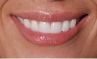close up of person smiling